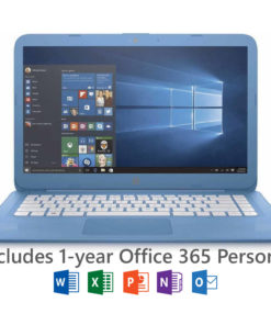 HP Stream 14″ Laptop, Windows 10 Home, Office 365 Personal 1-year included, Intel Celeron N3060 Processor, 4GB RAM, 32GB eMMC Storage