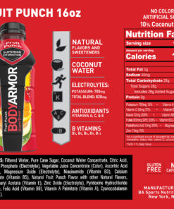 BODYARMOR Sports Drink, Fruit Punch, 16 Fl. Oz., 12 count
