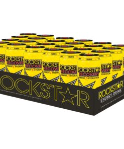 (24 Cans) Rockstar Recovery Energy Drink, Lemonade, 16 fl oz
