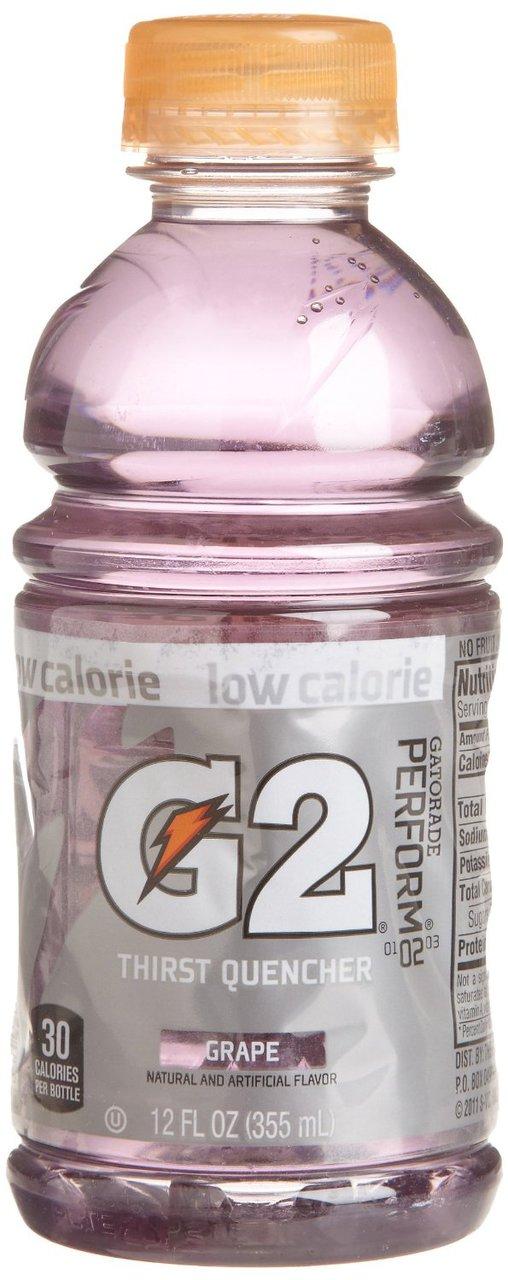 2 PACKS : Gatorade G2 Sports Drink, Grape, Low Calorie, 12-Ounce Bottles