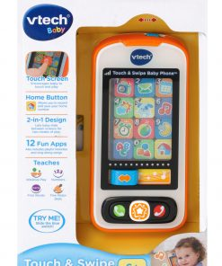 VTech Touch and Swipe Baby Phone, Learning Toy for Baby