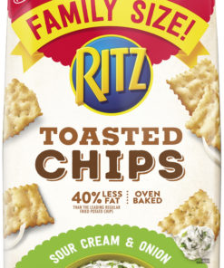 RITZ Toasted Chips Sour Cream and Onion, Family Size, 11.4 oz