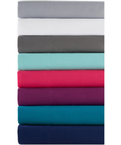 Comfort Classics Solid Microfiber Ultra Soft Wrinkle Free Sheet Set, Blue, Twin