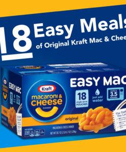 Kraft Easy Mac Original Flavor Single Serve Pouches, 18 ct – 38.7 oz Box