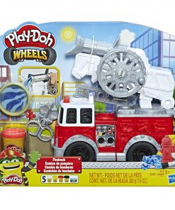 Play-Doh Wheels Firetruck Toy with 5 Cans of Play-Doh Water Compound