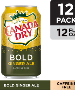 Canada Dry Bold Ginger Ale, 12 fl oz cans, 12 pack
