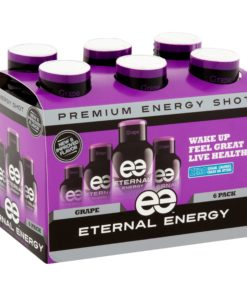 (12 Bottles) Eternal Energy Shot, Grape, 1.93 Fl Oz
