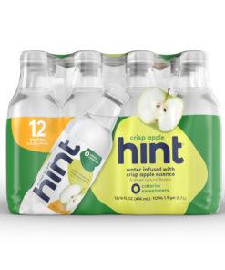 Hint Water Crisp Apple, (Pack of 12) 16 Ounce Bottles, Pure Water Infused with Crisp Apple, Zero Sugar, Zero Calories, Zero Sweeteners, Zero Preservatives, Zero Artificial Flavors