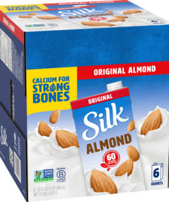 (Pack of 6) Silk Shelf-Stable Original Almondmilk, 1 Quart