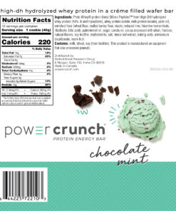Powercrunch Original Protein Bar, 13g Protein, Chocolate Mint, 16.8 Oz, 12 Ct