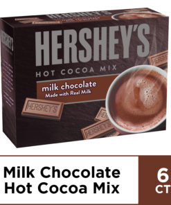 Hershey's Milk Chocolate Hot Cocoa Mix, 6 ct – Packets, 5.29 oz Box