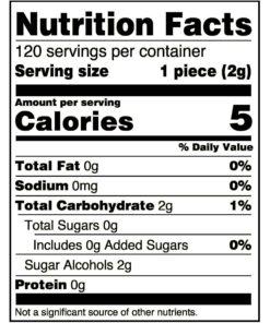 Extra Refreshers Gum, Polar Ice, 120 Pieces, 9.65 oz.