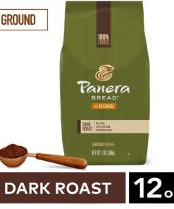 Panera Bread Dark Roast, 100% Arabica Coffee, Ground Coffee, Bagged 12 oz