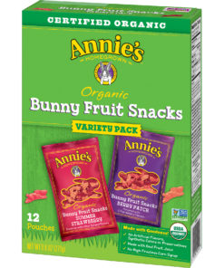 Annie's Organic Bunny Fruit Snacks, Variety Pack, 12 ct, 0.8 oz