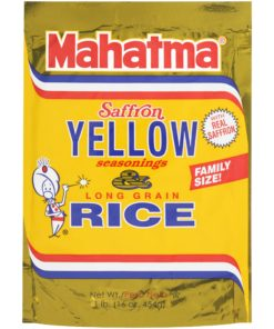 (3 Pack) Mahatma Saffron Yellow Seasonings & Long Grain Rice 16 oz Pouch