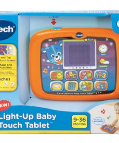 VTech Light-Up Baby Touch Tablet, Learning Toy for Baby, Orange
