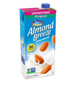 (3 pack) Almond Breeze Unsweetened Original Almond Milk, 32 fl oz