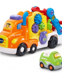 VTech Go! Go! Smart Wheels Deluxe Car Carrier, Toy Car Playset