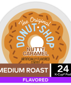 The Original Donut Shop Nutty Caramel, Flavored K-Cup Pods, Medium Roast, 24 Count For Keurig Brewers
