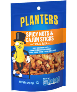 Planters Spicy Nuts and Cajun Stick Trail Mix, 6 oz Bag
