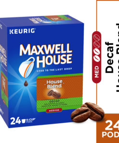 Maxwell House House Blend Coffee K Cup Pods, Decaffeinated, 24 ct – 7.44 oz Box