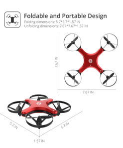 Holy Stone HS220 Foldable RC Drone with Camera Wi-Fi APP Control Altitude Hold One Key Take Off/Landing Foldable Arms Wing and Folding Flight Modes