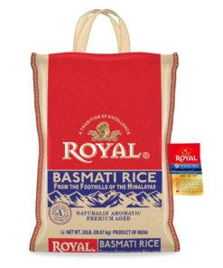 Royal Basmati Rice, 20 Pound Bag