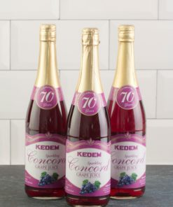 (Pack of 3) Kedem Sparkling Juice, Concord Grape, 25.4 fl oz