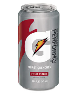 Gatorade Thirst Quencher Can, Fruit Punch, 11.6oz Can, 24/Carton -GTD30903