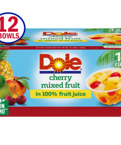 Dole Fruit Bowls Cherry Mixed Fruit in 100% Fruit Juice, 4 Oz Bowls, 12 Cups of Fruit