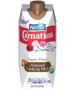 (2 Pack) CARNATION Almond Cooking Milk – USDA Organic Milk Substitute for Sweet and Savory Recipes, Rich and Delicious Organic Almond Milk, 11 fl. oz