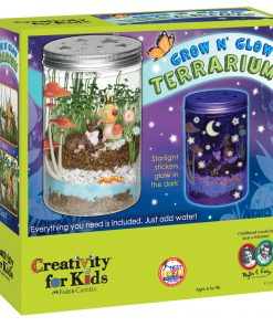 Creativity for Kids Grow N' Glow Terrarium Kit – STEAM Activity