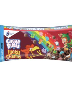 Cocoa Puffs Cereal with Lucky Charms Marshmallows, 35 Oz