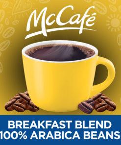 McCafe Light Roast Breakfast Blend Ground Coffee, Caffeinated, 30 oz Can