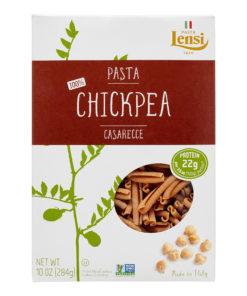 (2 pack) Lensi 100% Chickpea Casarecce Pasta, 10 oz
