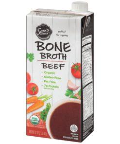 (2 pack) Sam's Choice Organic Bone Broth, Beef, 32 oz