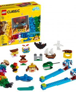 LEGO Classic Bricks and Lights 11009 Shadow Theater Storytelling Toy for Kids (441 Pieces)
