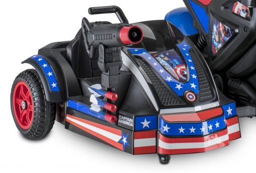 Marvel's Captain America Motorcycle and Sidecar, 12-Volt Ride-On Toy by Kid Trax