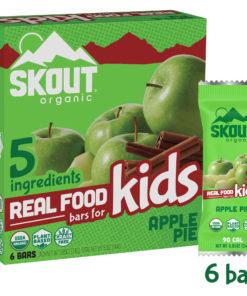 Skout Organic Kids Bars, Apple Pie, 6 bars, 0.85oz each