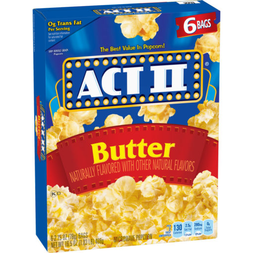 Act II Butter Microwave Popcorn 2.75 Oz 6 Ct