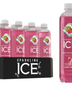 Sparkling Ice® Naturally Flavored Sparkling Water, Kiwi Strawberry 17 Fl Oz, (Pack of 12)