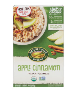 Nature's Path, Instant Oatmeal, Organic, Apple Cinnamon, 8 Packets