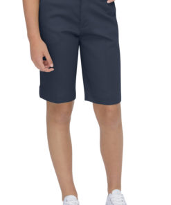 Genuine Dickies Girls 4-6X School Uniform Classic Fit Bermuda Stretch Twill Shorts