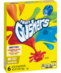 Gushers Strawberry Splash and Tropical Flavored 6 Count