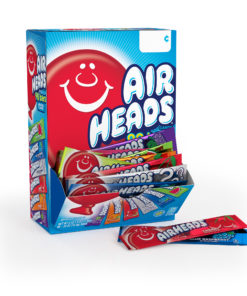 Airheads Individually Wrapped Fruit Candy Variety Gravity Feed Box, 90 Count