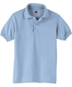 Hanes Boys School Uniform 4-18 EcoSmart Jersey Polo Shirt