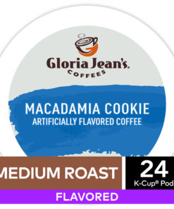 Gloria Jean's Macadamia Cookie Flavored K-Cup Pods, Light Roast, 24 Count for Keurig Brewers