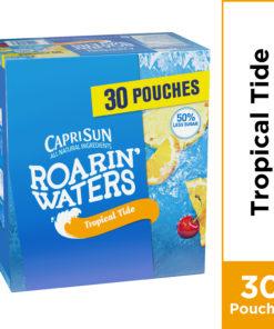 Capri Sun Roarin' Waters Tropical Tide Flavored Water Beverage, 30 ct – 6 fl oz Pouches