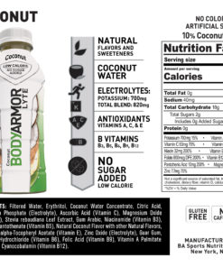 BODYARMOR LYTE Sports Drink, Coconut, 16 Fl. Oz., 12 count