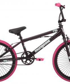Mongoose FSG BMX Bike, 20-inch wheels, single speed, black / pink